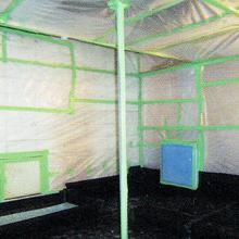 作業床防水及び壁等養生